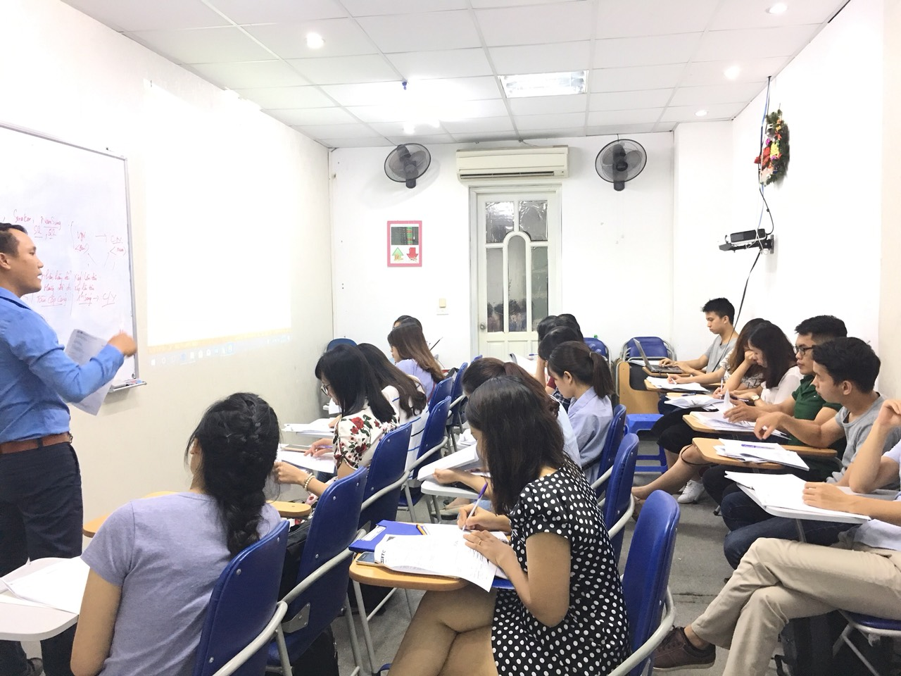 Buổi học xuất nhập khẩu tại trung tâm VinaTrain chi nhánh Hồ Chí Minh