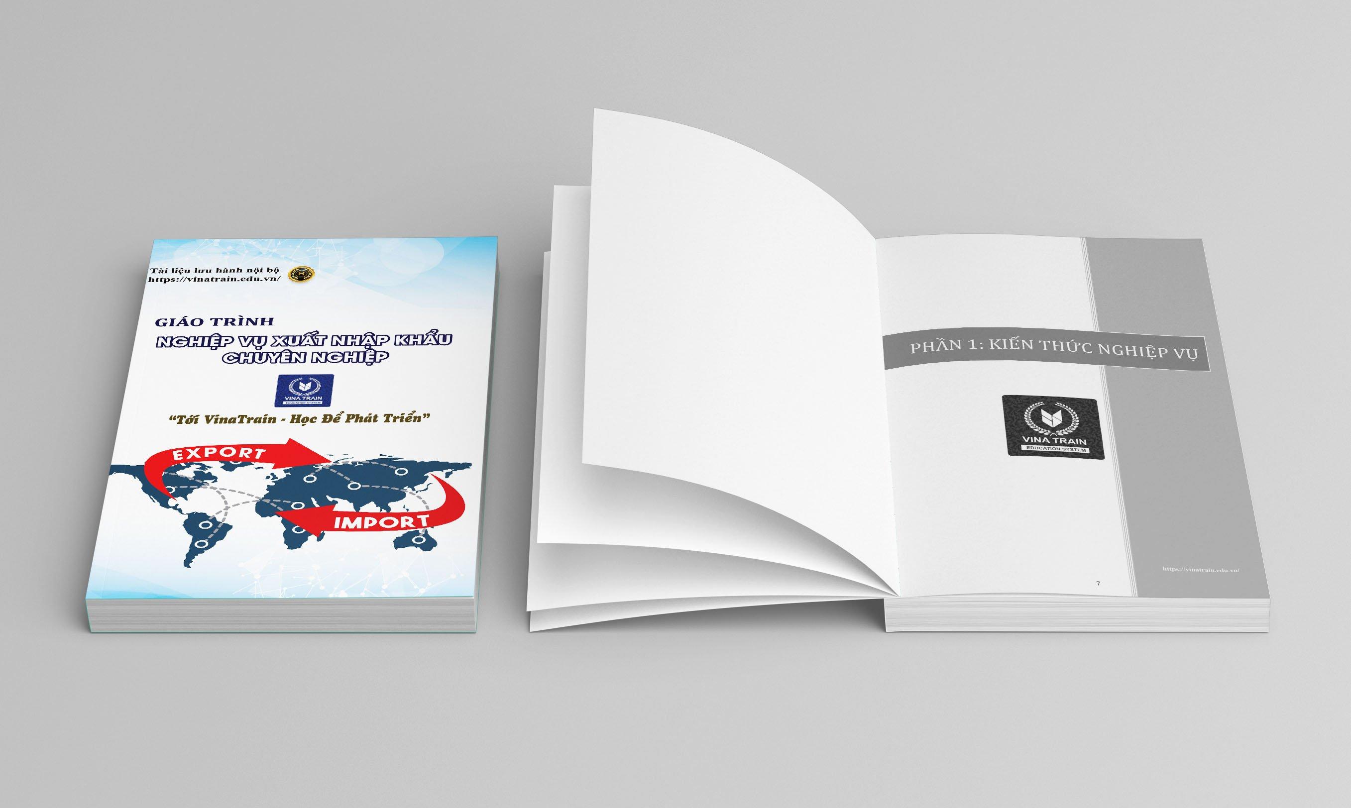 Sách nghiệp vụ xuất nhập khẩu được đưa vào giảng dạy tại trung tâm VinaTrain (Nguồn: Vinatrain)