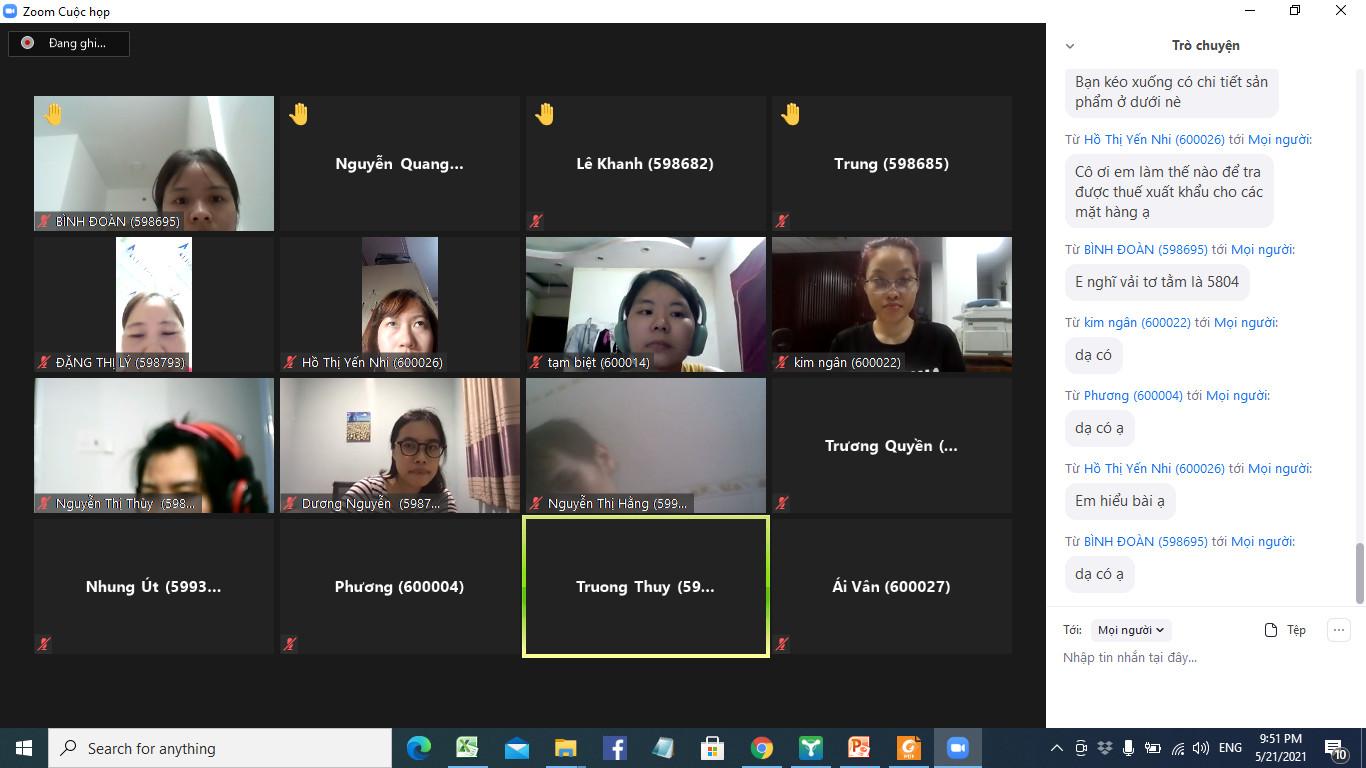 Hình ảnh khóa học xuất nhập khẩu online tại VinaTrain