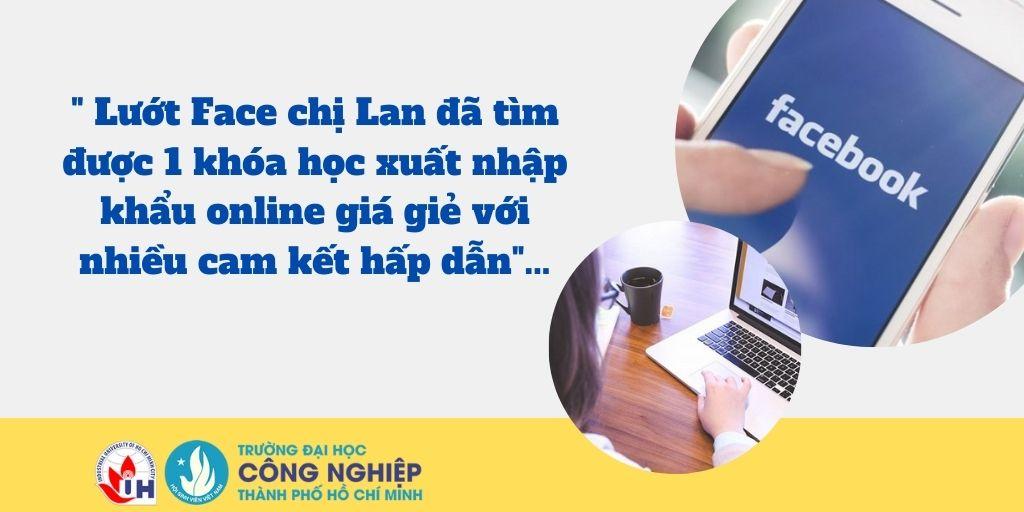 Khóa học xuất nhập khẩu online được chị Lan mua khi tham khảo trên facebooks